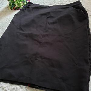 Target zip up black mini skirt